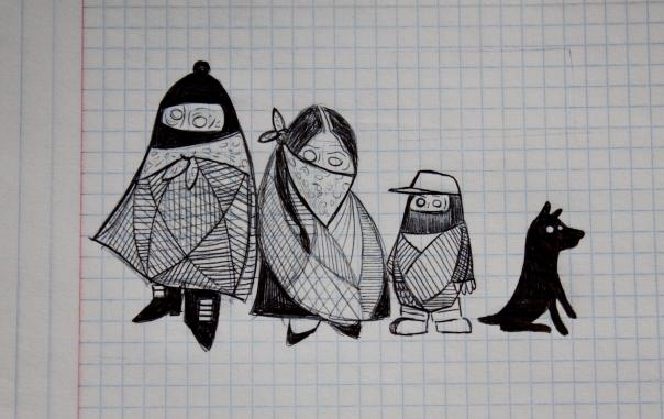 Boceto Familia Zapatista
