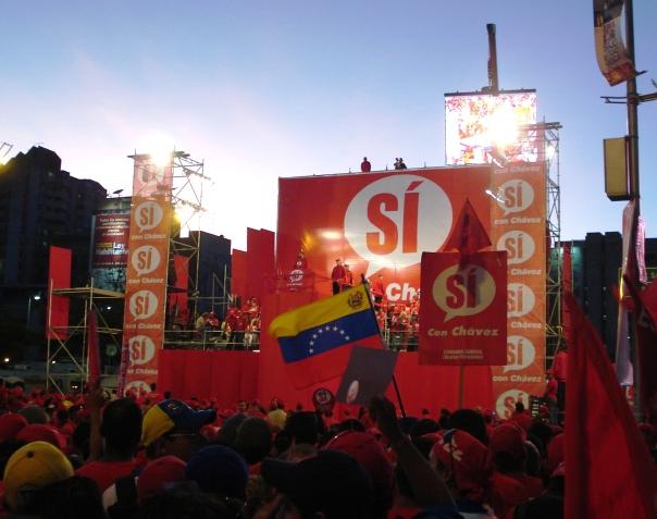 Cierre de campaña de Chávez para el referéndum constitucional de diciembre, 2007