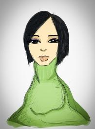 Mujer con cuello de tortuga