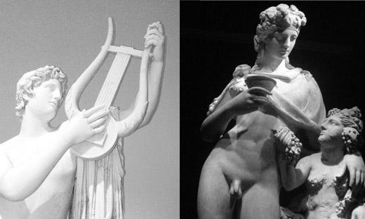 Por eso dice Nietzsche que el origen de la tragedia en occidente se remonta a la tensión entre Apolo y Dionisio, la virtud y el vicio.