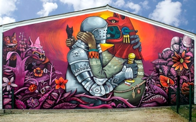 street-art-by-saner-on-festival-cheminance-in-fleury-les-aubrais-france