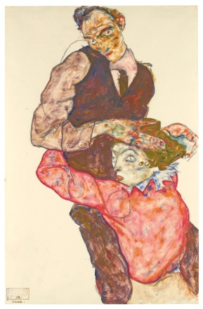 EGON_SCHIELE_1890_-_1918_LIEBESPAAR_(SELBSTDARSTELLUNG_MIT_WALLY)_(LOVERS_-_SELF-PORTRAIT_WITH_WALLY)